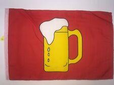 """133 RED BEER MUG FACE UTV SIDE X SIDE ATV SAFETY FLAG 12""""X18"""" FITS 1/4 5/16 POLE"""