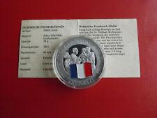 *Cook Island 1 Dollar 2001 Silber PP(500 -ca20g)*Fußball WM/Frankreich(Schu62)