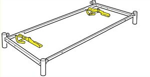 2 IKEA BEDDINGE SOFA BED HINGES LEFT AND RIGHT, STEEL