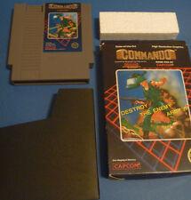 Commando NINTENDO NES W/ BOX AND GAME CARTRIDGE video 1986