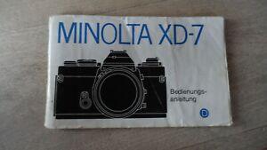 Minolta XD 7 Gebrauchsanleitung