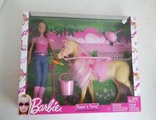 2009 Mattel Barbie & Tawny Horse Doll Playset Rare African American Version