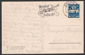 Germany. Danzig. Stamped Post Card sent 4/7/1937. Gepruft.