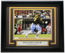 Fernando Tatis Jr. Signed Framed San Diego Padres 8x10 Hit Photo JSA
