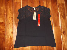 NWT Womens DKNY Lace Blouse Shirt Teal Pink White Black Blue Size S M L XL XXL