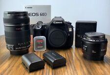 Canon EOS 60D + 2 Canon Lenses + Extras!