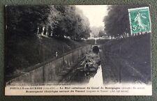 CPA.  POUILLY en AUXOIS. 21 - Bief Canal de Bourgogne. Remorqueur Électrique.