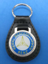 MERCEDES LEATHER  AUTO KEYCHAIN KEY CHAIN RING FOB NEW #040