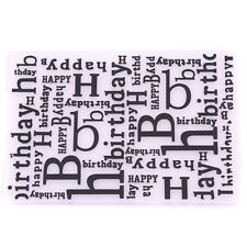 Embossing Template DIY Bump Happy Birthday Template Baking Tool LH