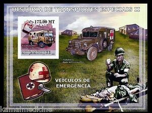 Mozambique 2009 MNH Imperf MS, Red Cross, Soldier , Ambulance, Medicine