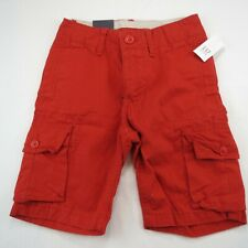 GAP KIDS - BOYS RED CARGO SHORTS - SIZE 6 REG - NEW WITH TAGS