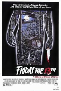 FRIDAY THE 13TH - CLASSIC MOVIE POSTER 24x36 - 51198