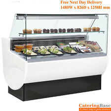 TAVIRA Refrigerated Slimline Deli Serve Over Counter Display Fridge 1480Wx826Dmm