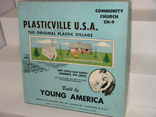 PLasticviLLe ☆ MASTER SET with dividers ☆ CHURCH & HOUSE Unit (CH-9) ♡from 1955