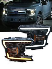 AlphaRex Pro Series Black Projector Headlights for 2018-2019 Ford F-150 XL / XLT