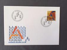 SWITZERLAND FDC 27.6 1996 HELVETIA Guiness Record Stamp