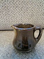 "Mini vintage creamer brown swirl 2"" tall"