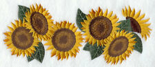 Sunflower Border Fall Autumn Leaves Bath Hand Towel Set Embroidered Gift
