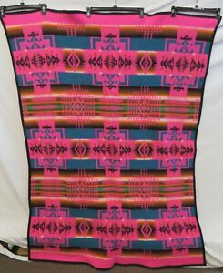 "Pendleton Beaver State Wool 54"" x 68"" Hot Pink Geometric Blanket"
