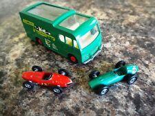 Matchbox Lesney K5 Racing Car Transporter + Ferrari and Aston Martin Race Cars