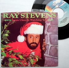 RAY STEVENS Christmas 1985 PS 45 SANTA CLAUS IS WATCHING YOU mint minus F269