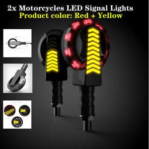 2pcs 12V Round Motorcycle Daytime Turn Signal High-bright LED  Light Running Kit