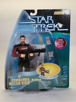 1997 Playmates Star Trek Warp Factor Series 1 Cmdr William Riker Figure Toy