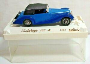 Solido Âge D'Ou 1:43 Echelle Delahaye 135 M - Bleu & Noir - #4048 - Tubé