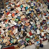 Vintage LOT OF 2400+ Matchbook Boxes Advertising 15+ Pounds BIG Collection
