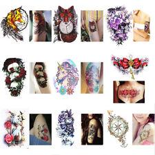 Mode Femme Tattoo Tatouage Temporaire Etanche Autocollant Sticker DIY Body Art