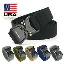 2020 Adjustable Alloy Buckle Military Tactical Belt Nylon Rigger Waistband Belt
