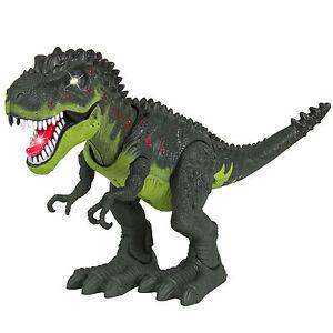 Walking Dinosaur T-Rex Interactive Figure Lights Sounds Movement Kids Boys Toy