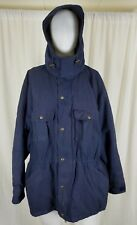 Vintage Woolrich Plaid Wool Lined Parka Jacket Coat Mens XL Midnight Blue USA