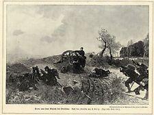 E.Kolitz ( Szene aus dem Gefecht bei Vendôme ) Militärische Graphik von 1898