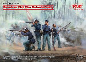ICM 1/35 Modèle Kit 35020 American Civil War Union Infantry (4 Figures)