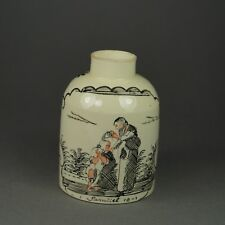 Antique 18th Century English Leeds Creamware Tea Caddy Canister Provenance 1770s