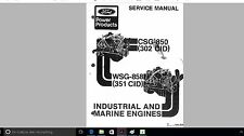 302 351 W Ford Marine engine manuals CSG-850M WSG-858M parts n service