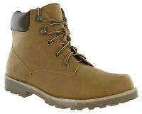 Mens Ankle Walking Desert Boots Tan Hiking Lace Up Grip Padded Summer Trail