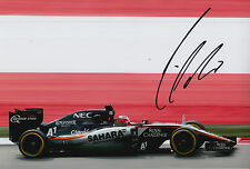 Nico Hulkenberg Hand Signed 12x8 Photo 2015 Sahara Force India F1 7.