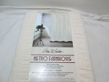 New Park B Smith METRO FARMHOUSE Seersucker Bands Shower Curtain 72x72 ~ Natural