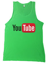 Youtube Logo Bella + Canvas Tank Top Shirt Internet Video Tee MANY COLORS NEW