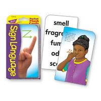 TREND Sign Language Pocket Flash Cards  - Sign Language Pocket Flash Cards