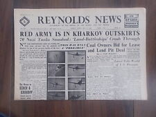 REYNOLDS NEWS WWII NEWSPAPER MAY 17th 1942 RUSSIAN RED ARMY IS IN KHARKOV