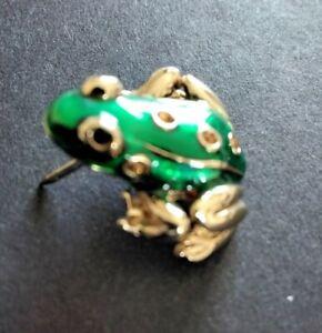 Vintage Green Rhinestone Frog Brooch, Brooch Pin Jewellery Gift Carolee Green?
