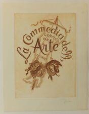 Decaris La Commedia Dell Arte burin signée Gravure originale