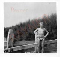 Photo of RAF Soldier Ron in Tight Speedo Trunks 1955 : B1/17