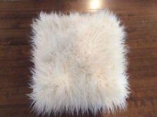 Pottery Barn Faux Fur Pillow Cover White EUC