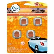 Febreze Car Clip Air Freshner 4 Pack Hawaiian Aloha Scent