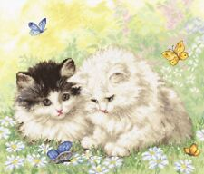 LetiStitch Counted Cross Stitch Kit - LETI 954 Summer Play Time - Kittens
