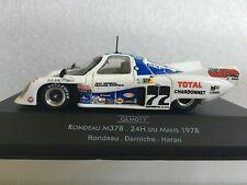 QUARTZO QLM017 Rondeau M378 #77 Rondeau/ Darniche/ Haran Le Mans 1978 1/43